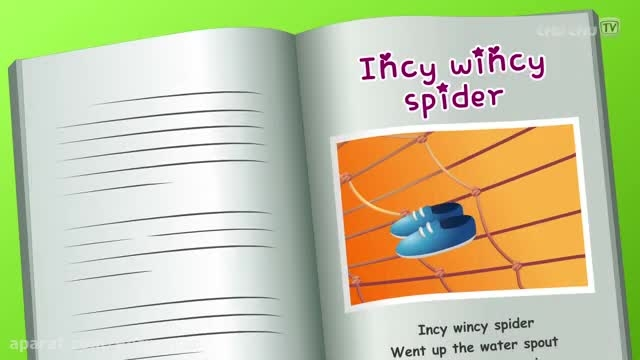 شعر و موزیک کودکانه انگلیسی عنکبوت ناقلا