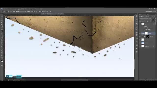 طراحی و ساخت یک مکعب آبی واقع گرایانه در فتوشاپ-بخش دوم