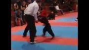 مبارزه آرین سام دلیری در مسابقات د راستان قزوین