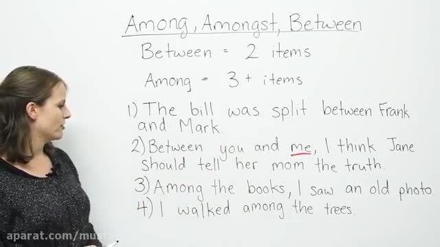 آموزش زبان انگلیسی (تفاوت Between و Among)