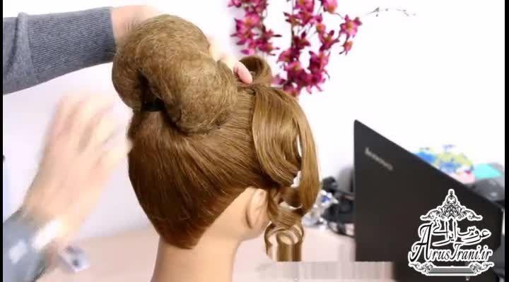 آموزش کامل مدل مو 36 - مدل موی عروس برای موهای متوسط