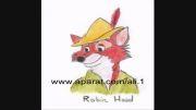 نقاشی از شخصیت رابین هود خود رابین هود