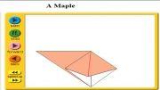 ساخت گل کاغذی اوریگامی
