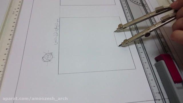 روش رسم شش ضلعی با داشتن اندازه یک ضلع