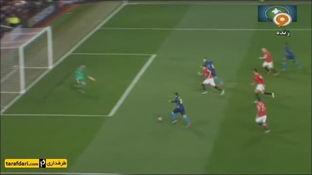خلاصه بازی منچستر یونایتد 1-2 آرسنال