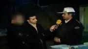 برخورد شبانه پلیس بزرگراه با رانندهٔ متخلف و عصبانی