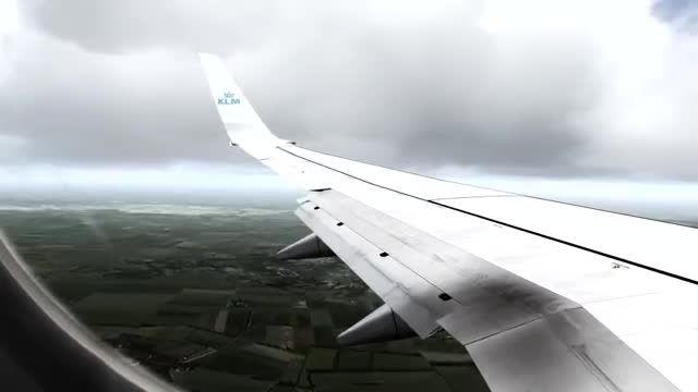 فرود بوئینگ 737 در فرودگاه وین شبیه ساز الماس