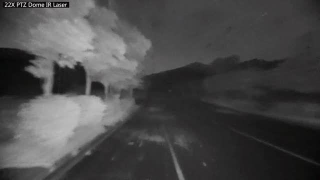 تست دید در شب لیزری دوربین مداربسته یونی ویو Uniview