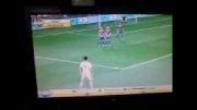 گل ضربه ازاد رونالدو در بازی pes13