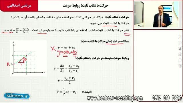 فیزیک۲-مبحث حرکت با شتاب ثابت-مهندس اسدالهی-قسمت2
