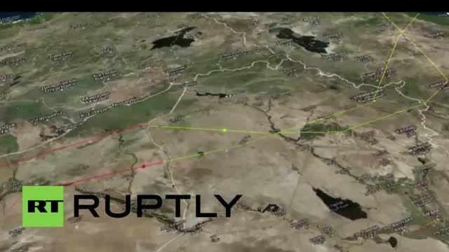 حمله ناو روسیه از دریای خزر به داعش در سوریه