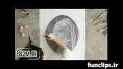 کلیپ جالب کشیدن نقاشی با استفاده از دایره