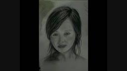 طراحی چهره سیاه قلم 1