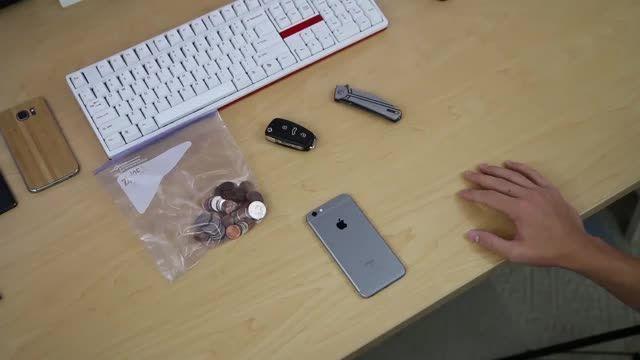 تست مقاومت iphone 6s در مقابل خط و خش