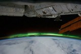 شفق قطبی از چشم ایستگاه فضایی بین المللی (از ناسا)