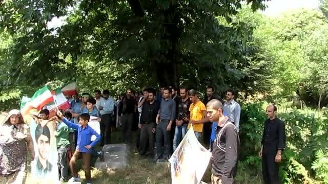 راهپیمایی روز قدس در روستای مزده بخش چهاردانگه ساری