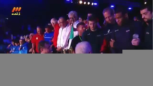 جشن قهرمانی تیم ملی کشتی ایران در آمریکا