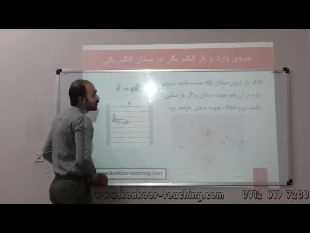 فیزیک3-مبحث میدان الکتریکی یکنواخت-مهندس اسدالهی-قسمت1