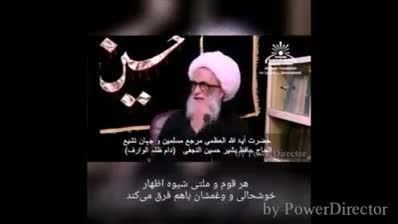 سخنان حضرت آیت الله العظمی شیخ بشیر نجفی - شعائر حسینی