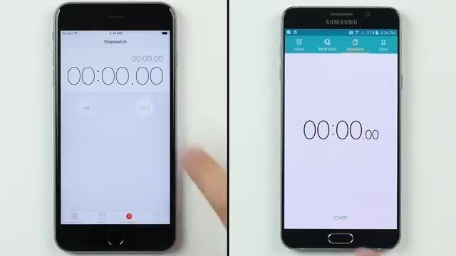 مقایسه سرعت اپل آیفون 6 اس پلاس در مقابل گلکسی نوت 5