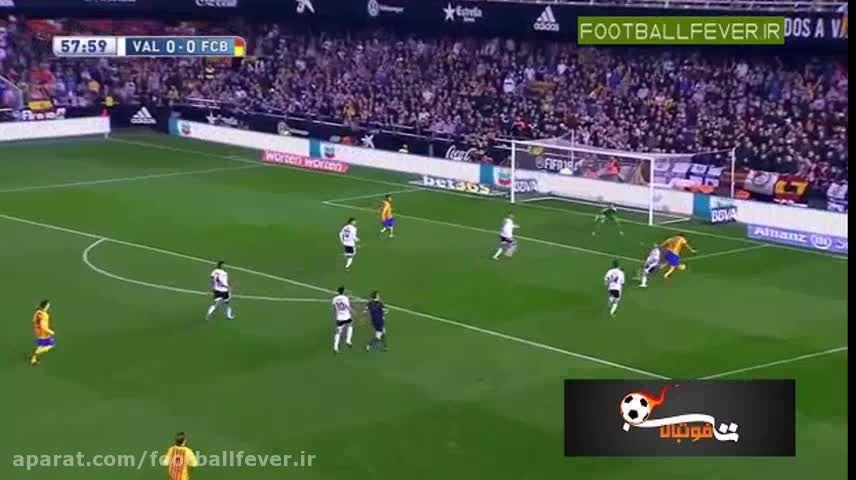 خلاصه بازی والنسیا 1 -بارسلونا 1