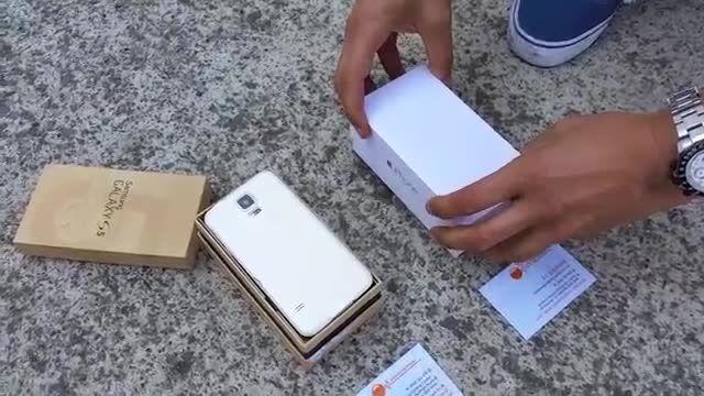 سوزاندن دو گوشی Iphone 6  Samsung galaxy s5