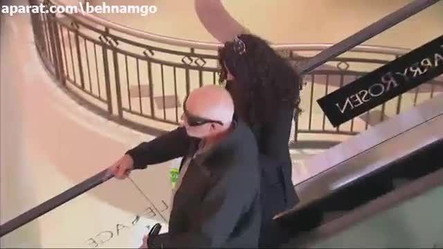 دوربین مخفی خنده دار پله برقی ...