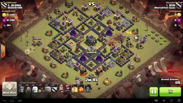 Clash of Clans - TH9 - GoHo - War 73 vs Redsaiyan - BEN