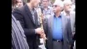 مراسم تشییع استاد سعدی افشار بهشت زهرا قطعه هنرمندان