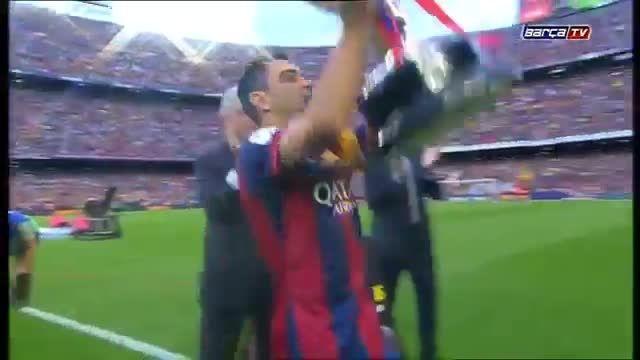 جشن قهرمانی بارسلونا در لالیگا اسپانیا فصل ...
