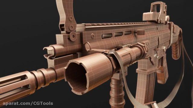 Digital Tutors - Modeling an Assault Rifle in Blender