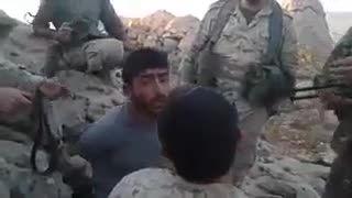 گوشمــالی تروریست سوری توسط سربازان حــزب الله