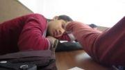 كلاس خواب آور و دانش آموز خوش خواب