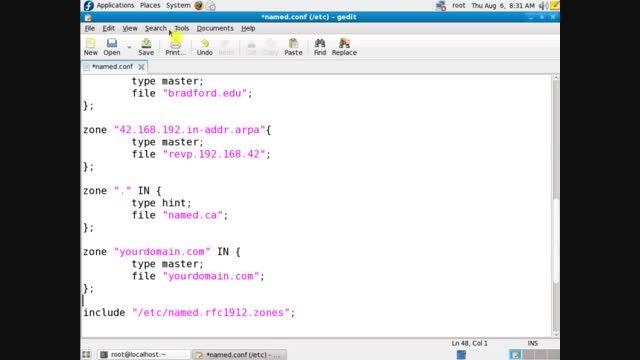 ساخت master zone در سرور Bind لینوکس فدورا