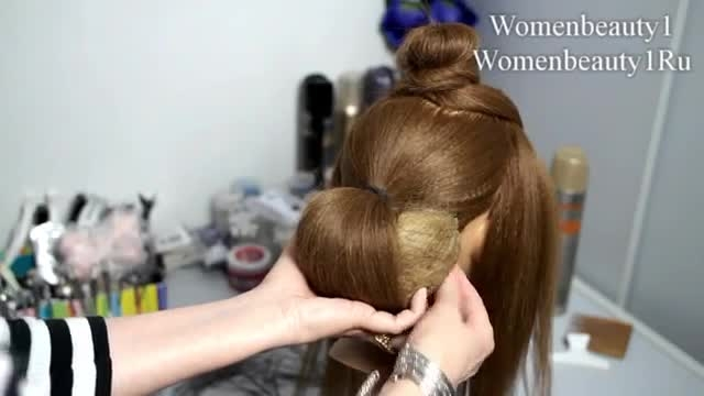 آموزش شینیون مو همراه با پاپیون