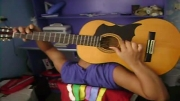 آهنگ سلطان قلبها با گیتار کلاسیک از پشت سر