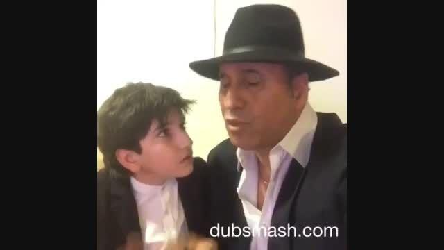 کل دیدنی حمید فرخ نژاد و پسرش