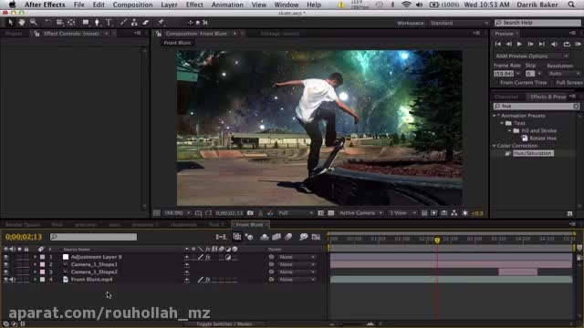 آموزش Aftereffect _ ترفند Sky Replacement
