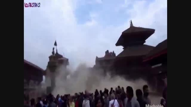 لحظه زلزله نپال_زمین لرزه شدید+فیلم ویدیو کلیپ حوادث