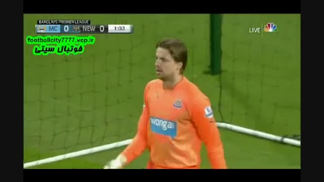خلاصه بازی منچستر سیتی 5 - 0 نیوکاسل(لیگ برتر انگلیس)