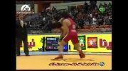 صحنه های دیدنی مسابقات کشتی ایران و ترکیه