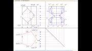 بر خورد یک منشور منتظم ۵ ضلعی با منشور منتظم چهار ضلعی