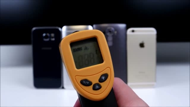 Galaxy S6 vs LG G4 vs One M9 vs iPhone 6_Heating Test