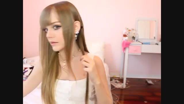 مدل موی سه دقیقه ای خوشگل با روبان