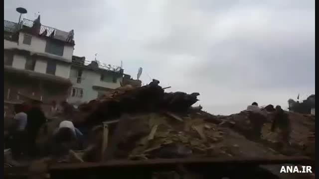 وحشت  مردم پس از زمین لرزه سهمگین نپال