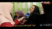 حرف های جالب یک زن درمورد نظام و حجابش در هنگام رای گیری-جالب