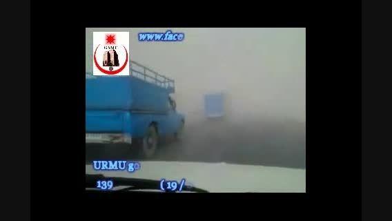 فیلم طوفان نمک در اطراف دریاچه اورمیه