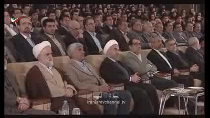 سخنرانی شنیدنی دانشجو اصلاح طلب در حضور روحانی!