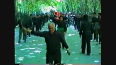 زنجیرزنان هیات حسینی امامزاده و باب الحوائج محرم1371