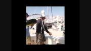 قاپیدن ماهی از ماهیگیر جالبه ببینید$محمود تبار